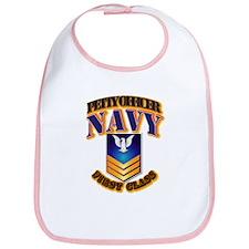 NAVY - PO1 - Gold Bib