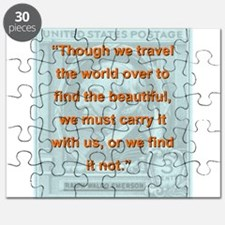 Though We Travel The World Over - RW Emerson Puzzl
