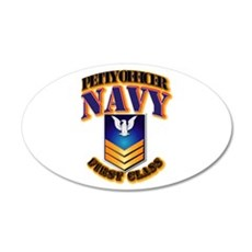 NAVY - PO1 - Gold Wall Decal