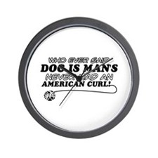 American Curl Cat Designs Wall Clock