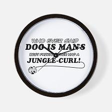 Jungle Curl Cat designs Wall Clock