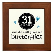31 Year Anniversary Butterfly Framed Tile