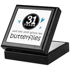 31 Year Anniversary Butterfly Keepsake Box