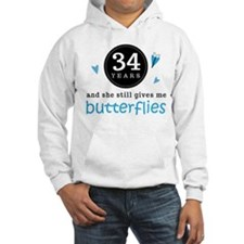 34 Year Anniversary Butterfly Hoodie