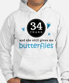 34 Year Anniversary Butterfly Jumper Hoody