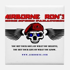 Airborne Ron's High Speed Paracords Tile Coaster