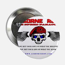 """Airborne Ron's High Speed Logo Gear 2.25"""" Button"""