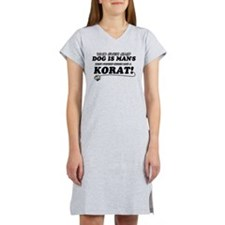 Korat Cat designs Women's Nightshirt