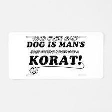 Korat Cat designs Aluminum License Plate