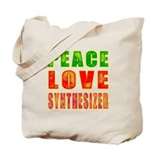 Peace Love Synthesizer Tote Bag