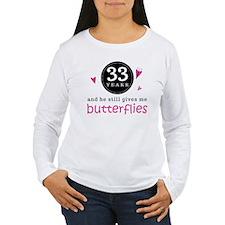 33rd Anniversary Butterflies T-Shirt