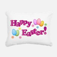 Happy Easter Bunny Rectangular Canvas Pillow