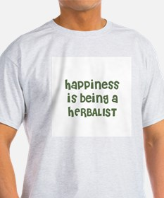 Happiness is being a HERBALIS Ash Grey T-Shirt