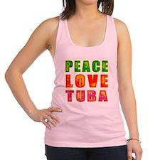 Peace Love Tuba Racerback Tank Top