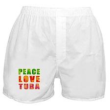 Peace Love Tuba Boxer Shorts