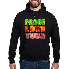 Peace Love Tuba Hoodie
