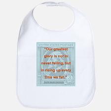 Our Greatest Glory - RW Emerson Cotton Baby Bib
