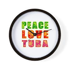 Peace Love Tuba Wall Clock