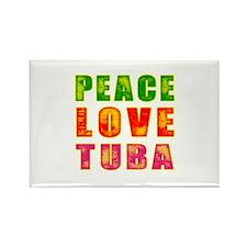 Peace Love Tuba Rectangle Magnet