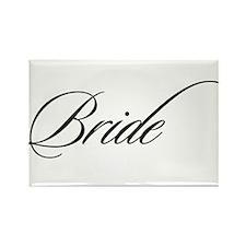 Bride Black Fancy Script Rectangle Magnet