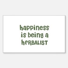Happiness is being a HERBALIS Sticker (Rectangular