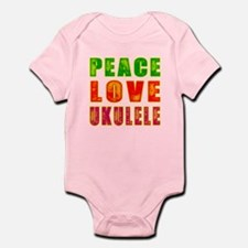 Peace Love Ukulele Infant Bodysuit