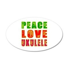 Peace Love Ukulele Wall Sticker