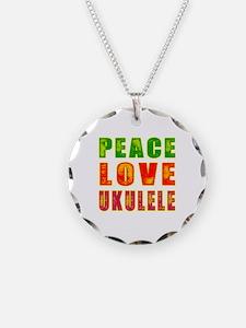 Peace Love Ukulele Necklace