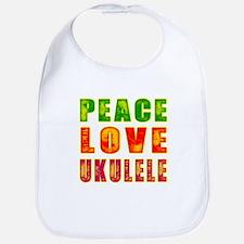 Peace Love Ukulele Bib