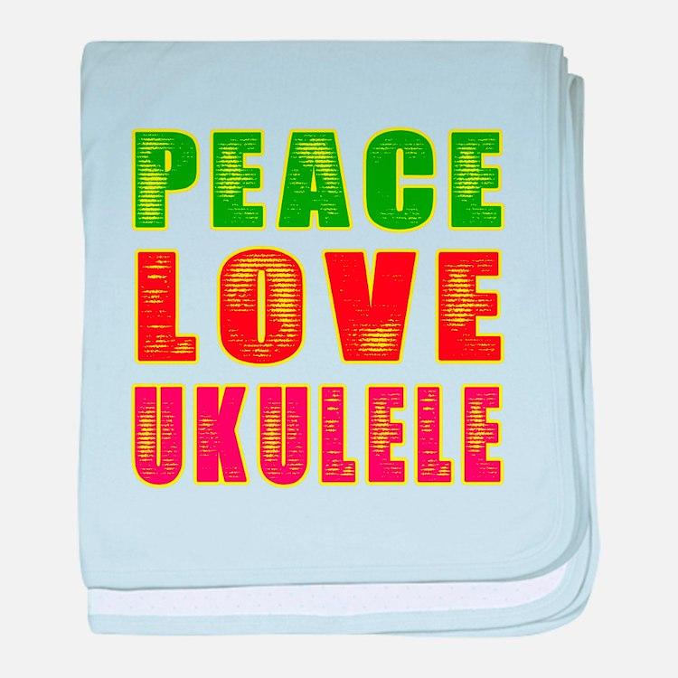 Peace Love Ukulele baby blanket