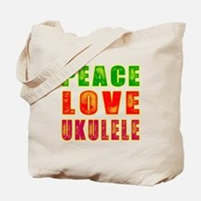 Peace Love Ukulele Tote Bag