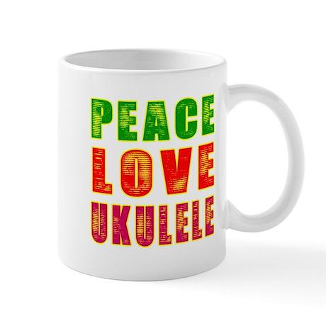 Peace Love Ukulele Mug
