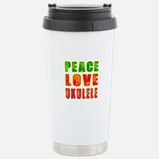 Peace Love Ukulele Travel Mug