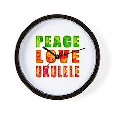 Peace Love Ukulele Wall Clock