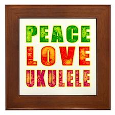Peace Love Ukulele Framed Tile