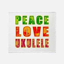 Peace Love Ukulele Throw Blanket