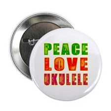 "Peace Love Ukulele 2.25"" Button (10 pack)"
