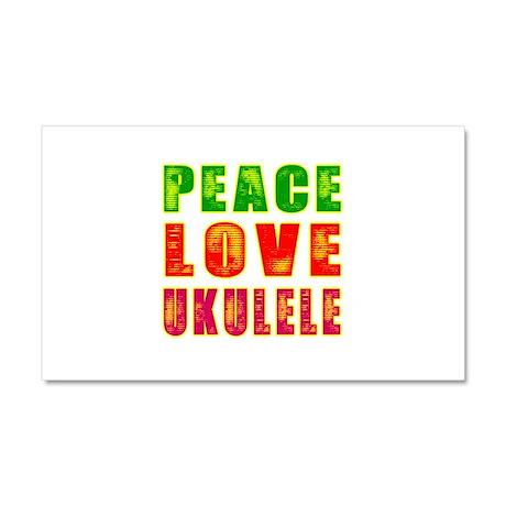 Peace Love Ukulele Car Magnet 20 x 12