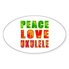 Peace Love Ukulele Decal