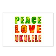 Peace Love Ukulele Postcards (Package of 8)