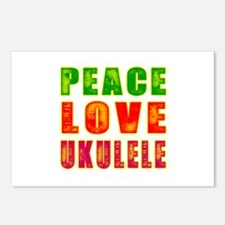 Peace Love Ukulele Postcards (Package of 8)