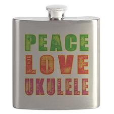 Peace Love Ukulele Flask