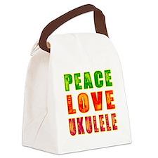 Peace Love Ukulele Canvas Lunch Bag