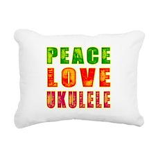 Peace Love Ukulele Rectangular Canvas Pillow