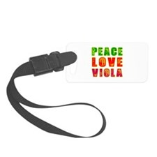 Peace Love Viola Luggage Tag