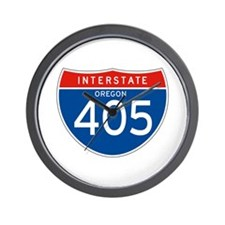 Interstate 405 - OR Wall Clock