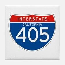 Interstate 405 - CA Tile Coaster