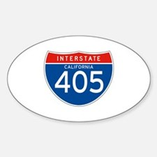 Interstate 405 - CA Oval Decal