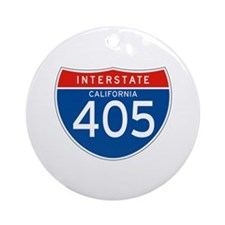 Interstate 405 - CA Ornament (Round)