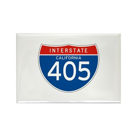 Interstate 405 - CA Rectangle Magnet (10 pack)